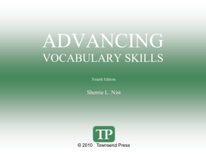 Advanced Vocabulary ch 2