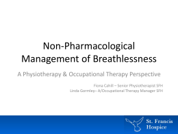 Management of Breathlessness