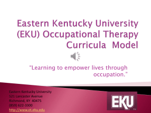 Eastern Kentucky University (EKU) Occupational Therapy Curricula