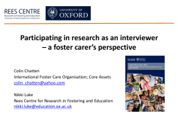 Participating in Research as an Interviewer