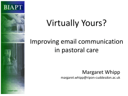 Pastoral Communication in a Digital Age