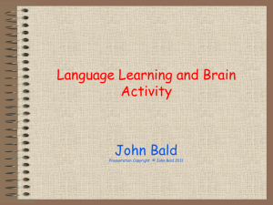 Language Learning and Brain Activity. TDA Oct11.