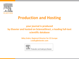 Production & Hosting