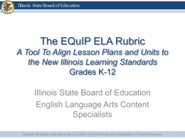 ELA PowerPoint - Classrooms in Action