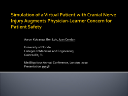 Simulation of a Virtual Patient with Cranial Nerve