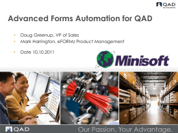 Advanced Document Solutions for QAD
