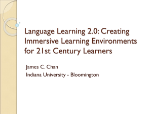Language Learning 2.0 - The University of Texas at Austin