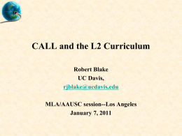 CALL and the L2 Curriculum