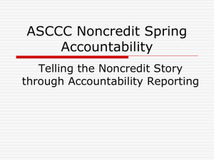 Noncredit Accountability Powerpoint
