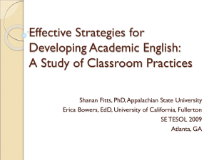 Effective strategies for developing academic English