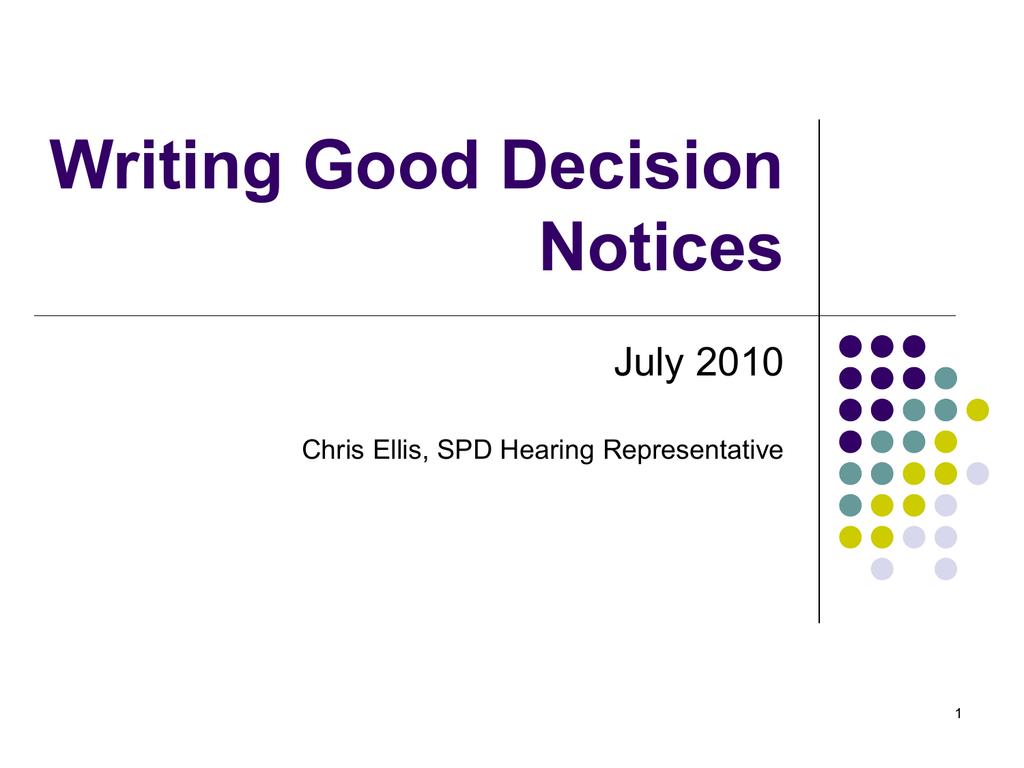 Decision Notices