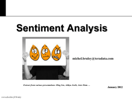 What is Sentiment Analysis?