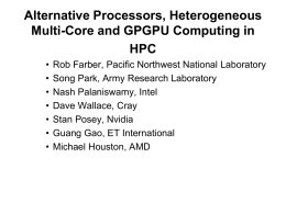 Alternative Processors, Heterogeneous Multi