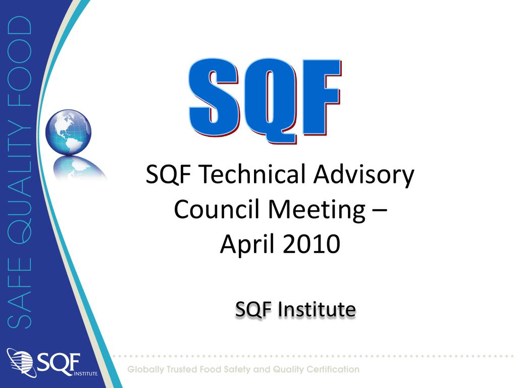 SQF 1000 Materials