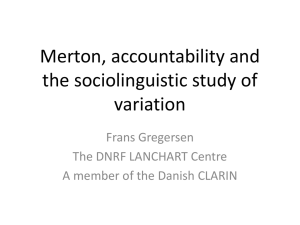 Merton, accountability and the sociolinguistic study of