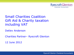 Gift Aid, Tax and VAT Presentation