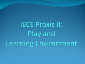 IECE Praxis II: Play and Learning Environment