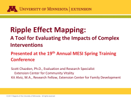 Ripple Effect Mapping  - College of Education & Human