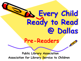 Pre-Readers - Dallas Public Library