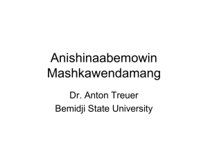 Ojibwe Language - Minnesota Humanities Center