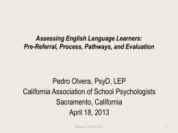 ELAssessment - California Association of School Psychologists