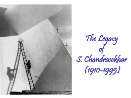 The Legacy of S. Chandrasekhar