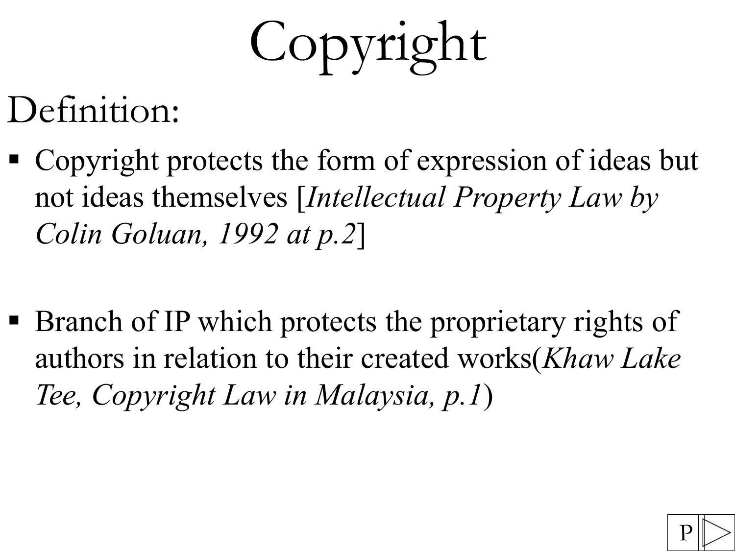 copyright - intellectual property homepage