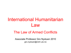 2. NON-INTERNATIONAL ARMED CONFLICT