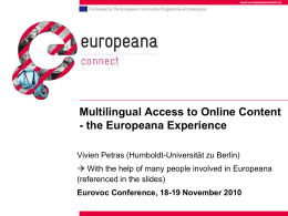 Multilingual access to online content