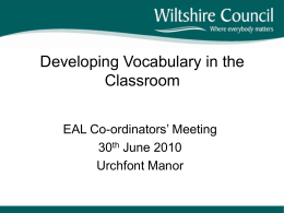 Vocabulary Presentation from EAL coordinators` conference 527kb