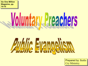 Voluntary Preachers - Battle Cry Ministry