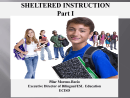Sheltered instruction - Ector County Independent School District