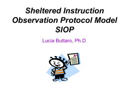Sheltered Instruction Observation Protocol Model (SIOP