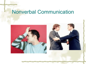 Dimensions of Non-verbal Communication