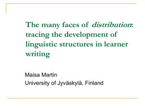 The many faces of distribution: tracing the development of linguistic