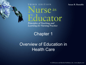 Chapter 1 Overview of Education in Health Care