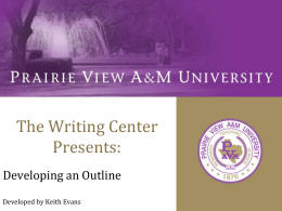 Outlines - Prairie View A&M University