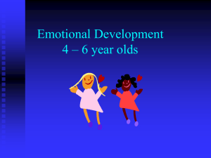Emotional Development Power Point