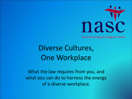 Diverse Cultures One Workplace