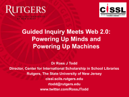 Ross Todd Guided Inquiry Web 2.0 - tldl