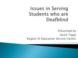 Students Who Are Deafblind