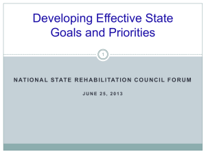 Effective State Goals and Priorities