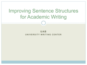 Improving Sentence Structures for Academic Writing