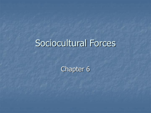 Chapter 6: Sociocultural Forces