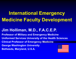 International Emergency Medicine Faculty Development