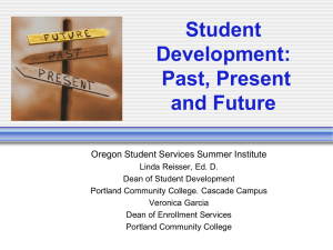 The Role of Student Development in the Community College