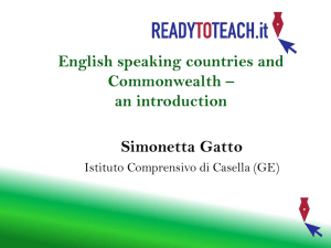 English speaking countries and Commonwealth