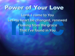 Power of Your Love