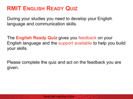 English Ready Quiz