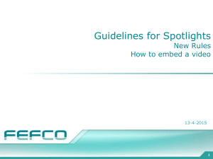 Spotlight Procedure and Guidelines